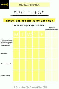 Level 1 Jobs Free Printable