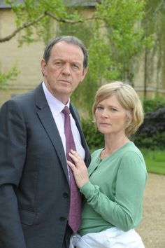 "Kevin Whately and Clare Holman in ""Inspector Lewis."""