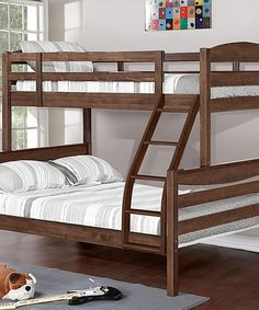 This Chestnut Twin Over Full Bunk Bed is perfect! #zulilyfinds