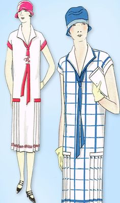 1920s Vintage Ladies Home Journal Sewing Pattern 5014 Uncut Flapper Dress Sz 36B #LadiesHomeJournal #FlapperFrock