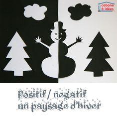 positif négatif (sapin et bonhomme de neige)