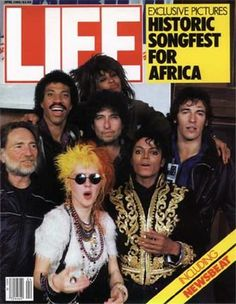 USA for Africa artists on the cover of Life magazine (1985).