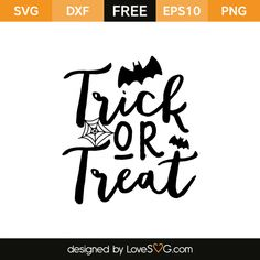 *** FREE SVG CUT FILE for Cricut, Silhouette and more *** Trick or Treat