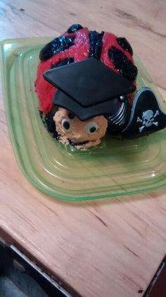 Graduation ladybug cake