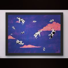 Cosmic Fly Fantasy Surreal Printable Bright Art in Digital Files for Print