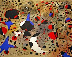 Joan Miró Constellation, The Nightingale's Song at Midnight and the Morning Rain Plate Eleven Joan Miró Foundation of Barcelona Joan Miro, Pablo Picasso Cubism, Lawrence Lee, Spanish Painters, Art For Art Sake, Morning Rain, Beautiful Paintings, Abstract Expressionism, Great Artists