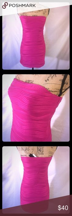 👗 SEXXXAY Bandage Bodycon Mini BRAND NEW• OFFERS WELCOME• this Sexy little number is a hot pink bandage bodycon mini dress. Hugs you in all the right places. There's stretch to it as well. Size. Medium Dresses Mini