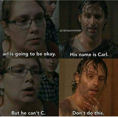 Poor Arl - The Walking Dead Memes that live on after the characters and season ended. Memes are the REAL zombies of the show. Walking Dead Jokes, Walking Dead Tv Series, Walking Dead Zombies, Walking Dead Coral, Fear The Walking Dead, Andrew Lincoln, Hunger Games, The Walk Dead, Twd Memes
