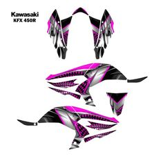 Yamaha quad graphic sticker decal kit for grizzly 700 atv for Fox yamaha bloomington in