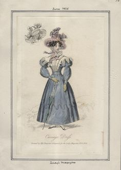 Lady's Magazine v. 10, plate 38 June, 1828.  Check out the straps on the sleeves, as described in the Stonehenge scene in Chapter 11.