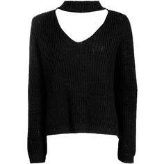 Lena Strap V Neck Oversized Jumper (235 SEK) ❤ liked on Polyvore featuring tops, sweaters, over sized sweaters, jumpers sweaters, spaghetti-strap top, v neck sweater and v neck jumper