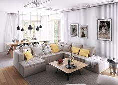 Projekt domu Oceania II 126,50 m² - koszt budowy - EXTRADOM House Outside Design, Simple House Design, Modern House Design, Modern Bungalow House, Bungalow House Plans, Home Design Floor Plans, Dream Home Design, Dream House Plans, Small House Plans