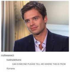 Not really Marvel related but I can't stop laughing. Sebastian Stan: Romanian puppy