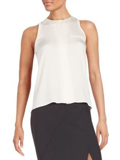 HALSTON HERITAGE Stretch-Silk Blouse. #halstonheritage #cloth #blouse