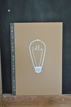 by Simply Factory // Image of cahier A4 kraft - ampoule Edison