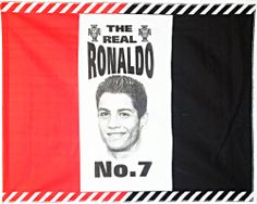 The Real Ronaldo No7 Tri-color Flag