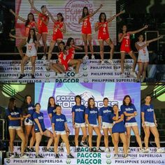Meralco and Foton with their team poses during #PSLGrandPrix opening! by #philippinesuperliga http://ift.tt/1L6Ut1X