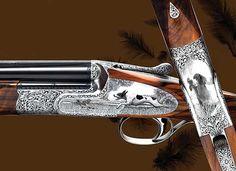 Luciano Bosis gunmaker - by Holland Holland Guns And Ammo, Weapons Guns, Sporting Clays, Gun Art, Shooting Gear, Hunting Rifles, Firearms, Shotguns, Hand Guns