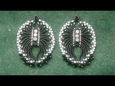 "Beading4perfectionists : 1920's Art Deco -""ish"" Spiderlike earrings brickstitch beading tutorial - http://videos.silverjewelry.be/earrings/beading4perfectionists-1920s-art-deco-ish-spiderlike-earrings-brickstitch-beading-tutorial/"