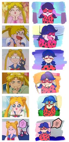 i noticed how ladybug and sailormoon kinda act the same (major goofballs) and this happened  this took longer then it should've