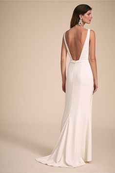 28bd8de11b Low back silk crepe wedding dress by Aria. Made in USA. www ...