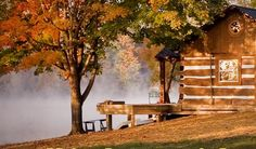 Cabin on the Lake Autumn
