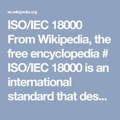 ISO/IEC 18000 From Wikipedia, the free encyclopedia #  ISO/IEC 18000 is an international standard that describes a series of diverse RFID technologies, each using a unique frequency range.