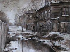 Козлов Дмитрий, Чиркизово Snow, Winter, Painting, Art, Winter Time, Art Background, Painting Art, Kunst, Paintings
