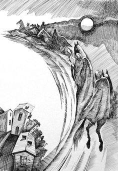Прощание с городом. Рисунки Василия Яшкевича