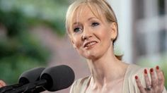 """J.K. Rowling Speaks at Harvard Commencement. J.K. Rowling, author of the best-selling Harry Potter book series, delivers her Commencement Address, """"The Fringe Benefits of Failure, and the Importance of Imagination,"""" at the Annual Meeting of the Harvard Alumni Association. (via http://harvardmagazine.com)"""