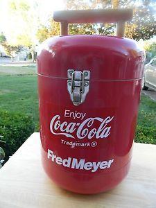 Rare Coca Cola Items | Rare-Vintage-Coca-Cola-Fred-Meyer-Red-Cooler-Good-Condition