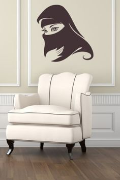 Housewares Vinyl Decal Arabic Muslim Woman Home Wall Art Decor Removable Stylish Sticker Mural Unique Design for Any Room Decal House http://www.amazon.com/dp/B00FWOF14O/ref=cm_sw_r_pi_dp_6lQUtb1FT6ABB3PB