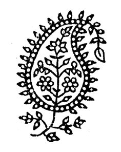 From a book of Indian block prints