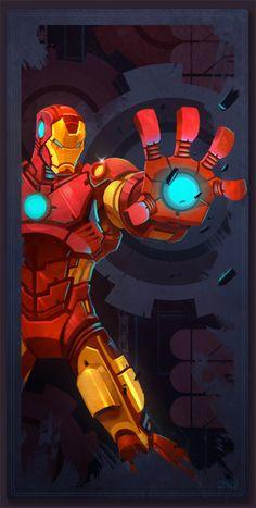 Avengers Card Iron Man by frogbillgo on @DeviantArt
