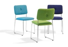 Dundra Chair, Chair with upholstered button by Stefan Borselius - Bla Station