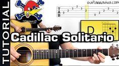 Como tocar CADILLAC SOLITARIO de LOQUILLO EN GUITARRA acordes y ritmo