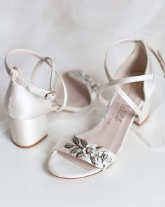 21 Most Wanted Wedding Shoes For Bride & Bridesmaids ❤ wedding shoes with low heels with stones harrietwilde #weddingforward #wedding #bride