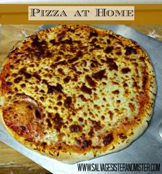 Delivery or (pizza options).....Think homemade pizza is too hard?  Think again.  This is an easy recipe that you can do in the time it takes to call a pizza place and have it delivered.