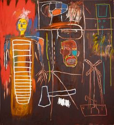 Jean-Michel Basquiat, Air Power, 1984. From the collection of David Bowie. Courtesy of Sotheby's London.