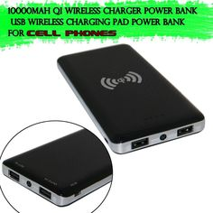 Dual USB 10000mAh Power Bank External Battery Qi Wireless Powerbank Charger Charging Pad For iphone Samsung HTC LG