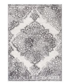 Another great find on #zulily! Gray Vintage Medallion Rosendo Rug #zulilyfinds