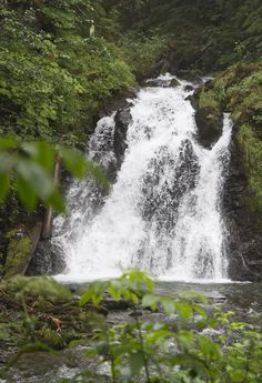 Alaska waterfalls.