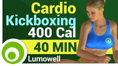 Cardio Kickboxing Workout - 400 Calorie Cardio Routine - YouTube