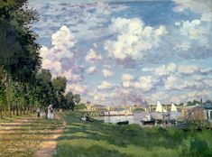 The Marina At Argenteuil Painting by Claude Monet