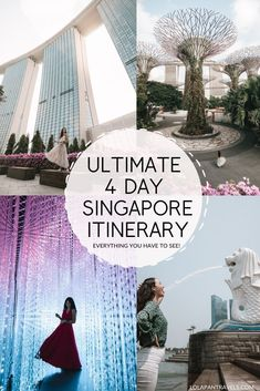 This Singapore 4 day itinerary is perfect for any first timers looking to visit this beautiful city. Is 4 days enough in Singapore? Singapore Things To Do, Singapore Travel Tips, Singapore Itinerary, Visit Singapore, Singapore Vacation, Travel Advice, Travel Guides, Travel Hacks, Thailand