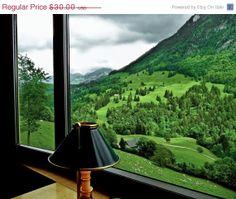 SALE Swiss Alps  Interlaken  Train  by AroundTheGlobeImages, $25.50