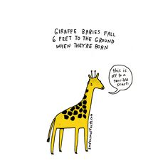 I've got some bad news about giraffes.