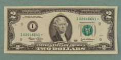 Two dollar bills. Introduced in 1862 and discontinued in Was reintroduced again This example is a copy of the current two dollar bill which is still in circulation. Old Coins, Rare Coins, Two Dollars, Old Money, I Remember When, Thomas Jefferson, Coin Collecting, The Good Old Days, Back In The Day