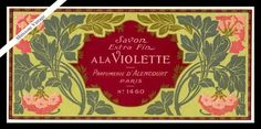 Vintage Perfume Soap Label French Paris Antique Savon A La Violette Lithograph | eBay