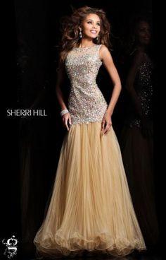Sherri Hill 21082 Sparkly Beaded High Neck Evening Dress